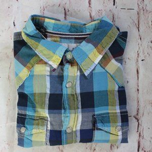 Women's Super Bad Checkered Sz large Green & Blue
